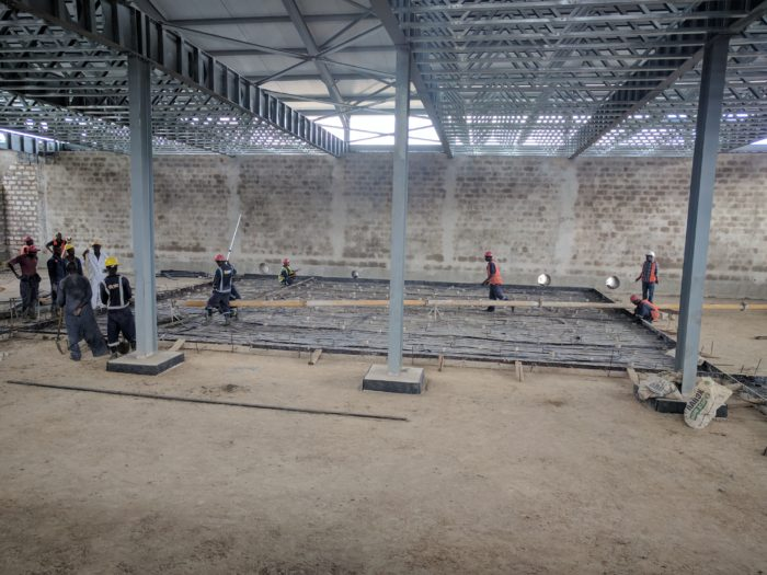 Preparations are on full swing before casting the floor slabs in the white space and technical rooms